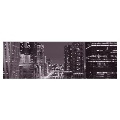 Wacker Drive and Chicago River Chicago IL Poster