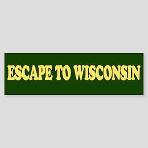 Escape to Wisconsin Bumper St Sticker (Bumper)