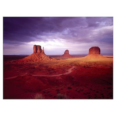 Storm Monument Valley UT \ AZ Poster