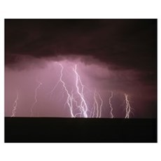 Thunder Storm in the Sky Poster