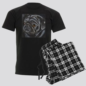 Black Pug Men's Dark Pajamas