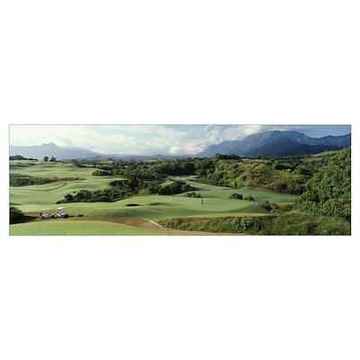 Princeville Golf Course Kauai Is Hawaii Poster