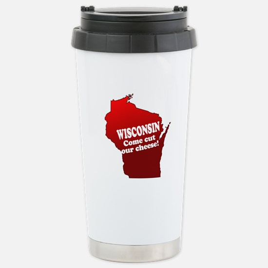 Come Cut Our Cheese Stainless Steel Travel Mug