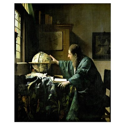 The Astronomer, 1668 (oil on canvas) Canvas Art