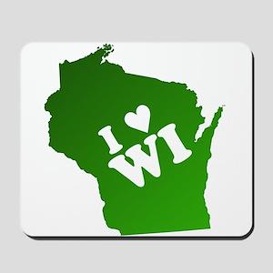 I heart Wisconsin Mousepad