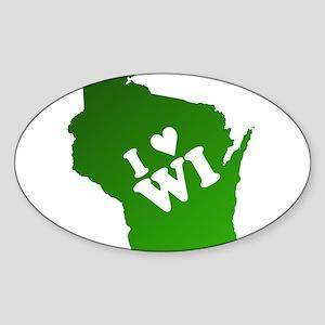 I heart Wisconsin Sticker (Oval)