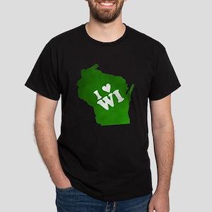 I heart Wisconsin Dark T-Shirt