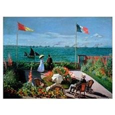 The Terrace at Sainte Adresse, 1867 (oil on canvas Poster