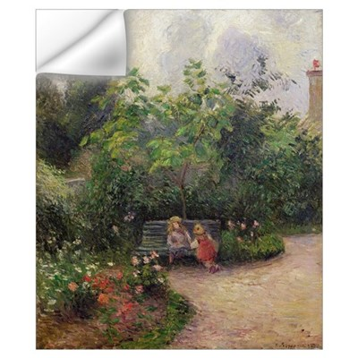 A Corner of the Garden at the Hermitage, Pontoise, Wall Decal