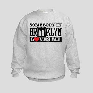 Somebody In Brooklyn Loves Me Kids Sweatshirt