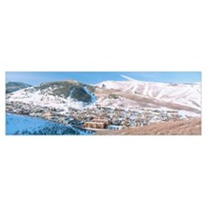 Town in a mountain valley, Park City, Utah Poster