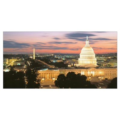 Washington DC at night Poster