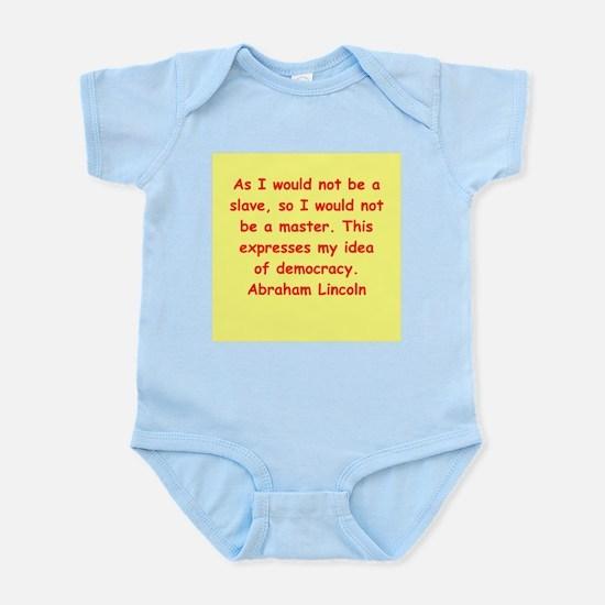 abraham lincoln Infant Bodysuit