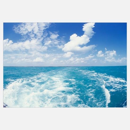Atlantic Ocean and Boat Wake Florida Keys FL