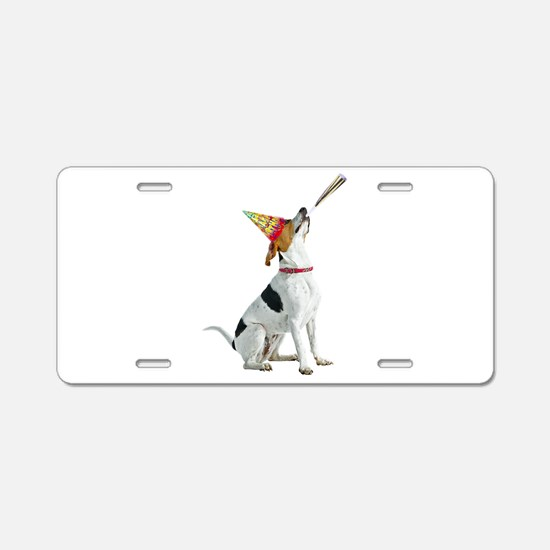 Foxhound Birthday Aluminum License Plate