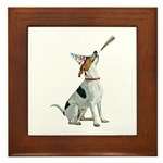 Foxhound Party Framed Tile