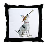Foxhound Party Throw Pillow