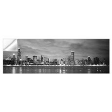Illinois, Chicago, skyline Wall Decal