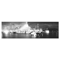 Evening Buckingham Fountain Chicago IL Framed Print