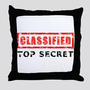 Classified Top Secret Throw Pillow