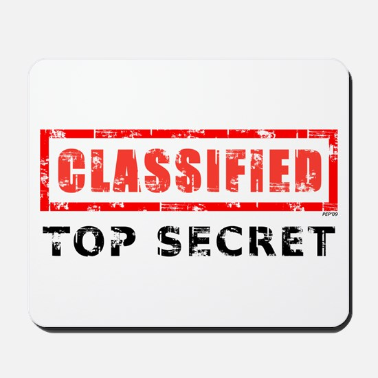 Classified Top Secret Mousepad