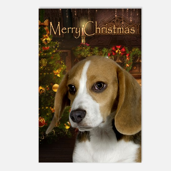 Beagle Holiday Postcards (Package of 8)