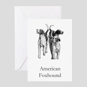 American Foxhound Greeting Card