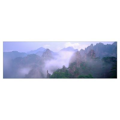 Huangshan Mountains National Park China Poster