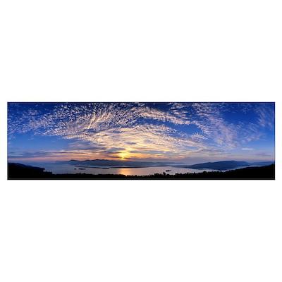 Mackerel Clouds Lake George Adirondacks NY Poster