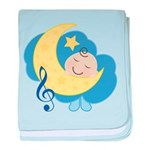Dreaming About Music Blue Baby Blanket