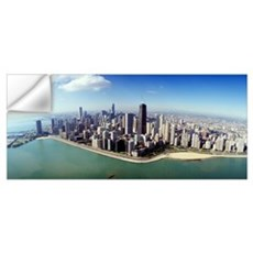 Aerial Chicago IL Wall Decal