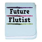 Future Flutist Music baby blanket