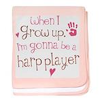 Kids Future Harp Player baby blanket