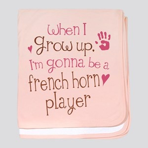 Kids Future French Horn Player baby blanket