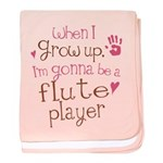 Kids Future Flute Player baby blanket