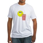 Smilie Face Popcorn Fitted T-Shirt