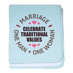 Celebrate Traditional Values baby blanket