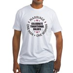 Celebrate Traditional Values Fitted T-Shirt