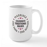 Celebrate Traditional Values Large Mug
