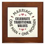 Celebrate Traditional Values Framed Tile
