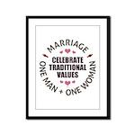 Celebrate Traditional Values Framed Panel Print