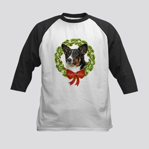 Cardigan Corgi Howl-Days Kids Baseball Jersey