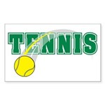 Tennis Rectangle Sticker