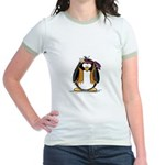 Hippie penguin Jr. Ringer T-Shirt