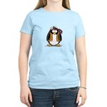 Hippie penguin Women's Pink T-Shirt