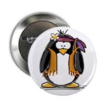Hippie penguin Button