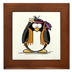 Hippie penguin Framed Tile