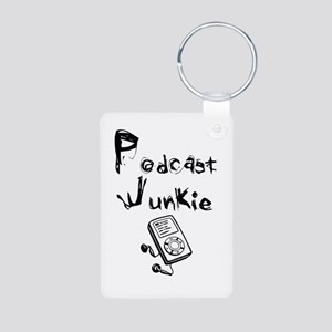 Podcast Junkie Aluminum Photo Keychain