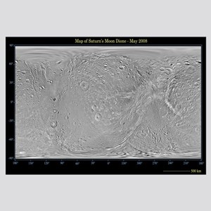Global map of Saturns moon Dione