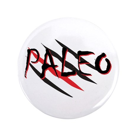 "Paleo Red 3.5"" Button"